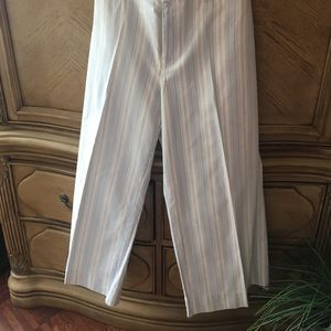 Gap light Blue and off White striped pants